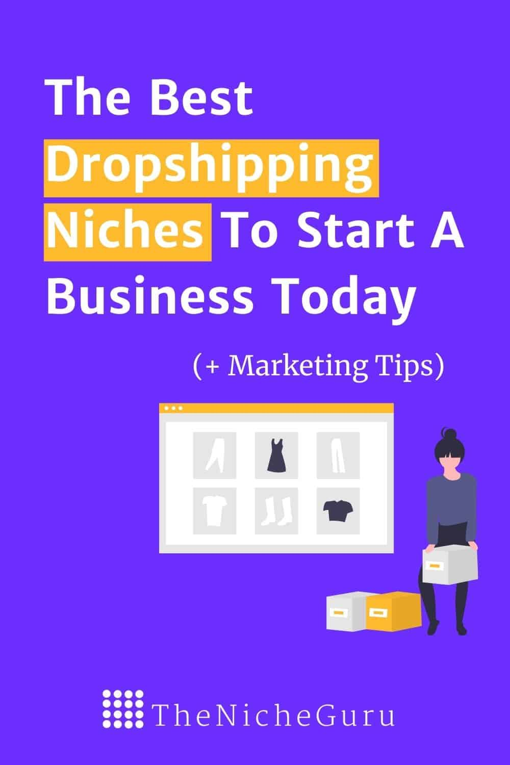 Find the best dropshipping niches to start a profitable business today. Shopify,  Woocommerce, Ali Express and Amazon platforms to promote your products. #niche #nicheideas #dropshipping #shopify #amazon #ecommerce #aliexpress