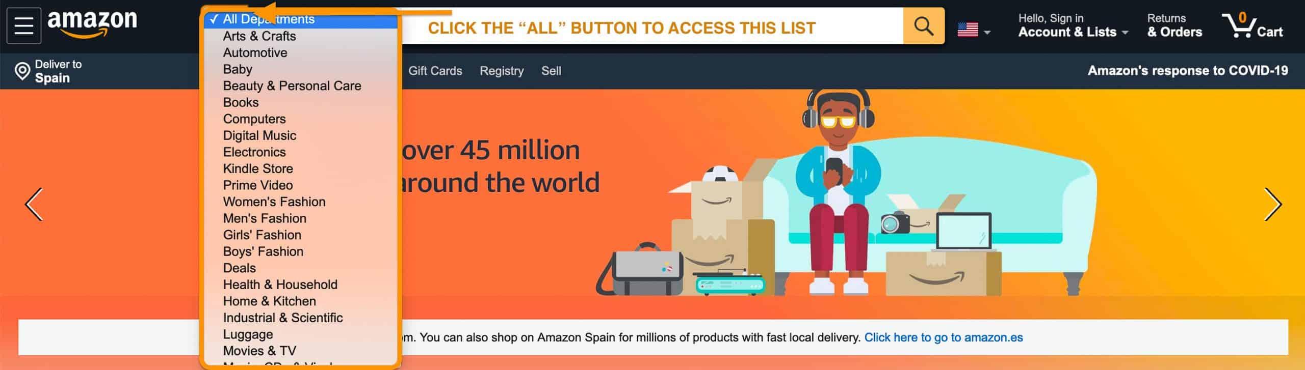 amazon categories