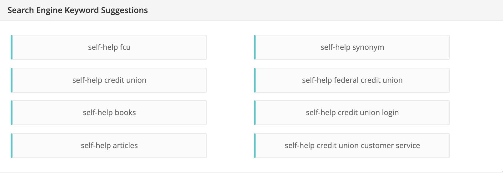 self-help niche related keywords