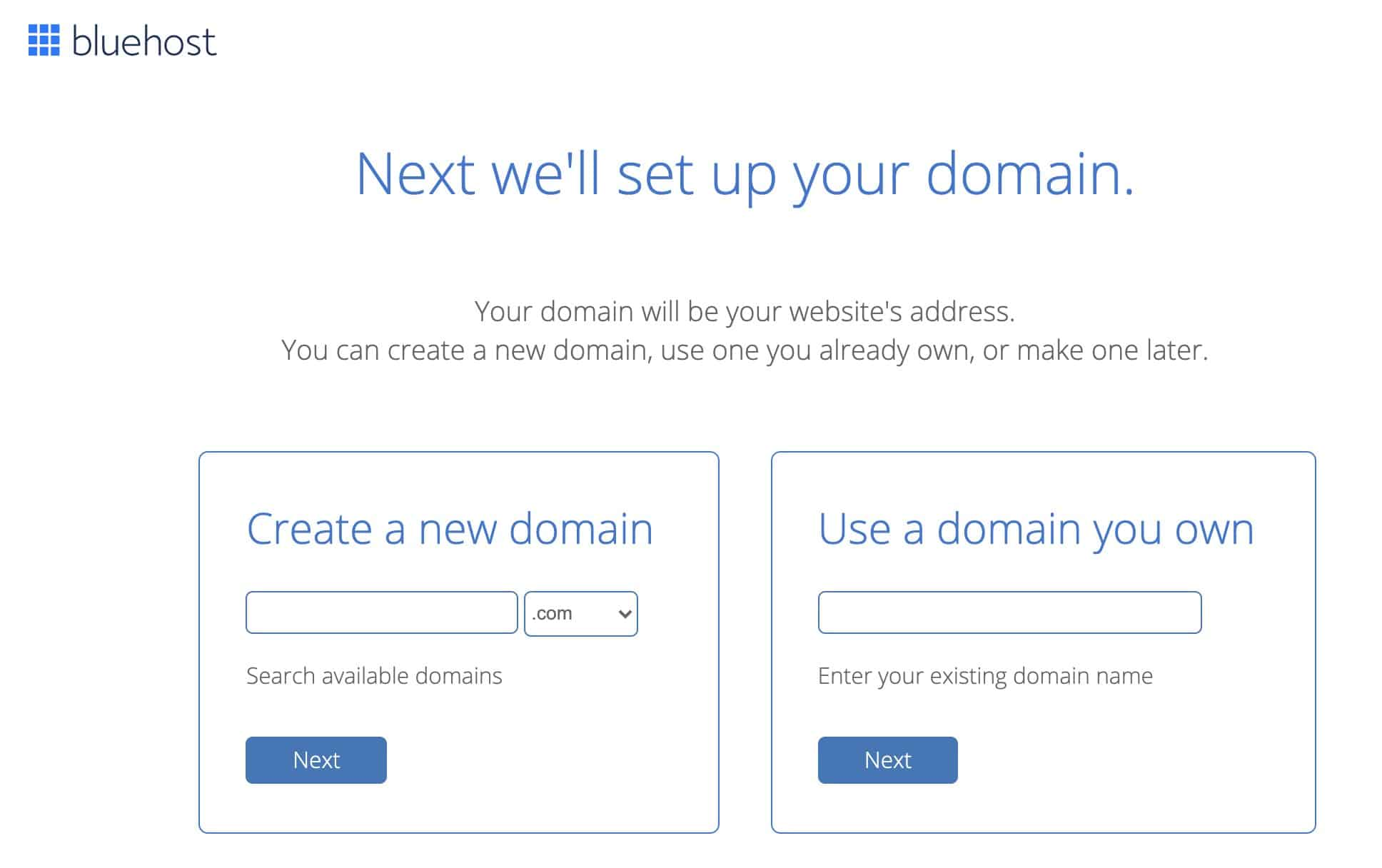 set up domain