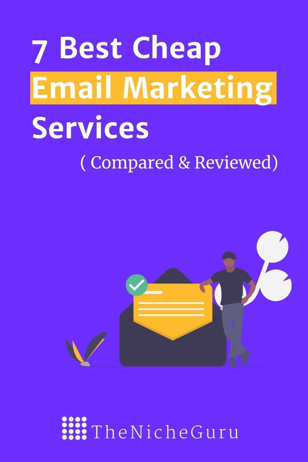 7 Best email marketing services for your business. Free software perfect for beginners and for ecommerce businesses. #EmailMarketing #Email #BloggingTools #FreeEmail