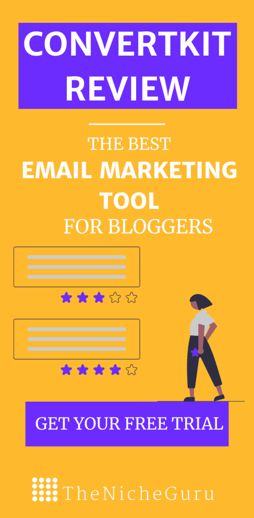 ConvertKit Review- The best email marketing tool for bloggers.  In this review, I test Converkit main features, easy of use, sign up forms, automations and more. #EmailMarketing #Blogging #Email #ConvertKit
