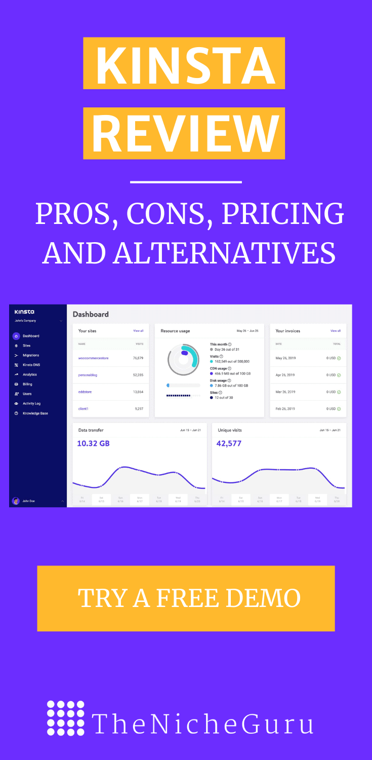 Want to create a website for your business? Then you should check Kinsta- the best managed WordPress Hosting for any business. It is fast, reliable and you can try it for free! #Hosting #Wordpress #Kinsta