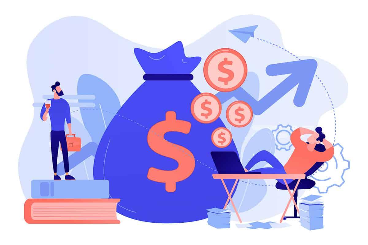 Passive income concept vector illustration.