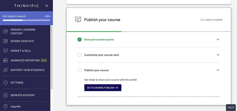 publish your course