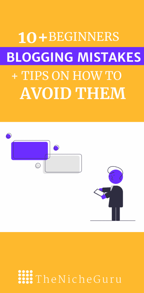 Discover the most common mistakes beginners bloggers commit, and learn how to avoid them with actionable tips. #BloggingTips #BloggingForBeginners #BloggingMistakes
