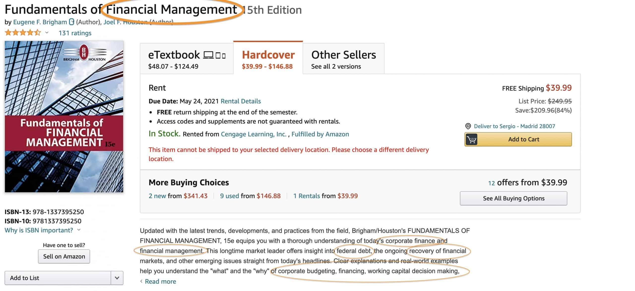 book description keywords