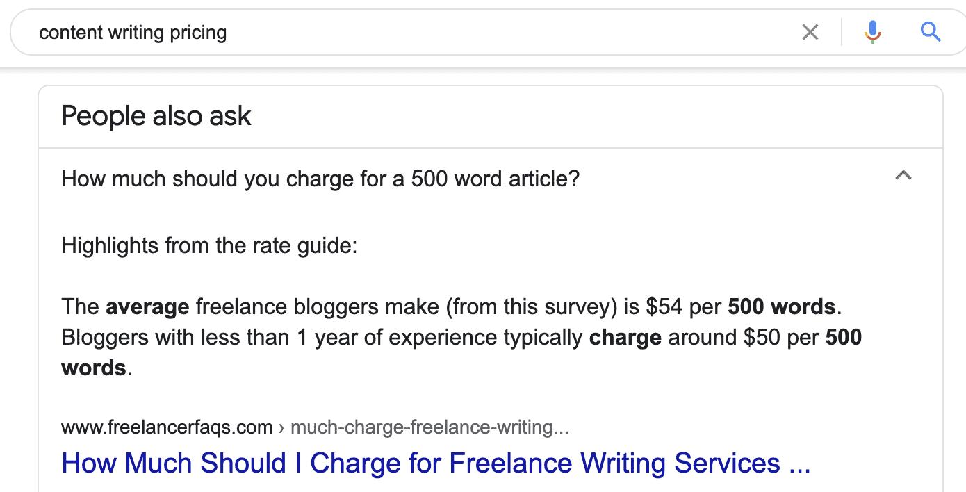 content writing google