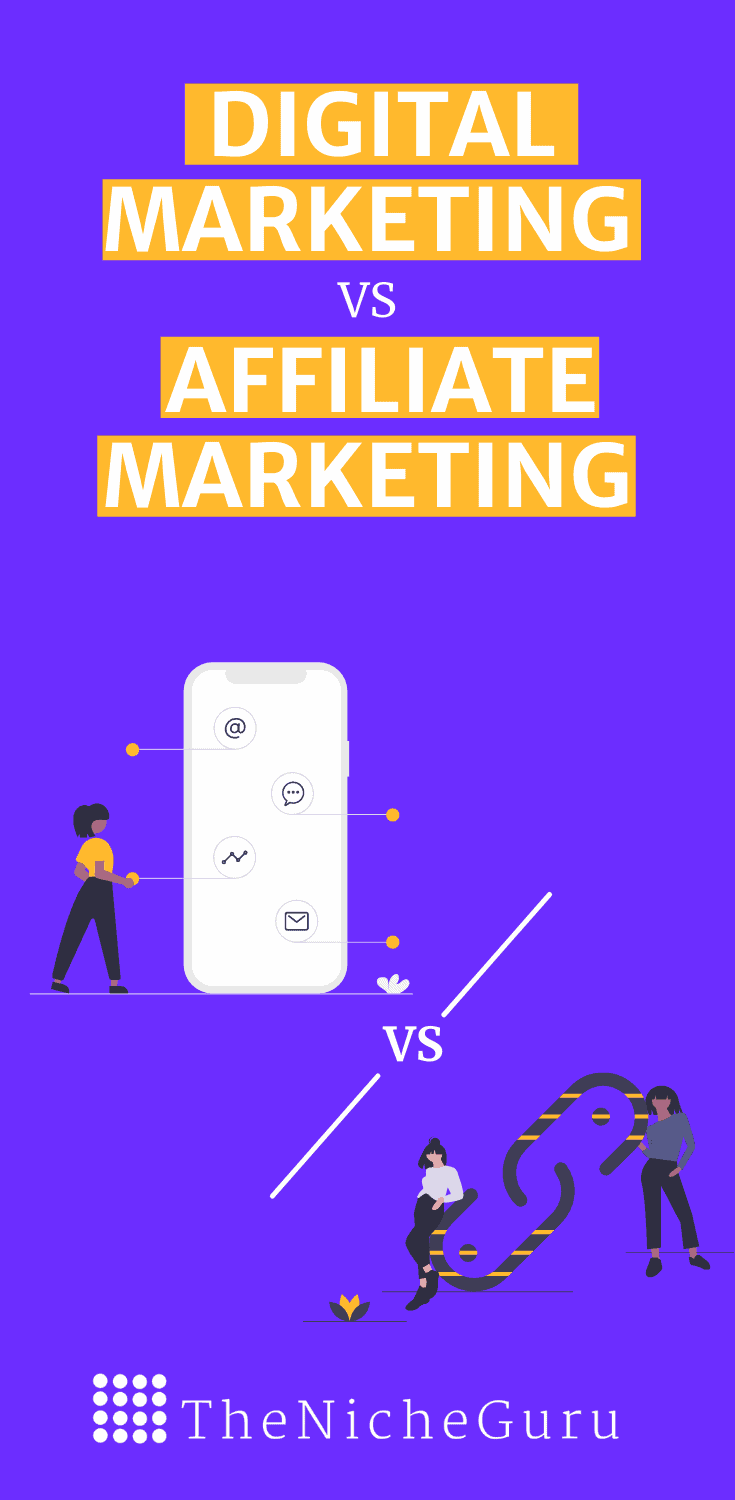 Learn the differences between digital marketing vs affiliate marketing. Discover which is better for you and start your online business. #Ditigalmarketing #OnlineMarketing #AffiliateMarketing