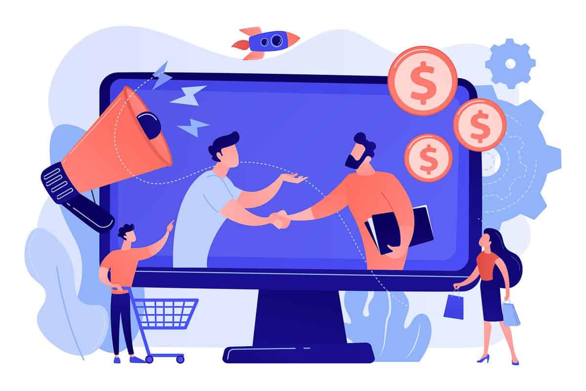 Affiliate marketing concept vector illustration.