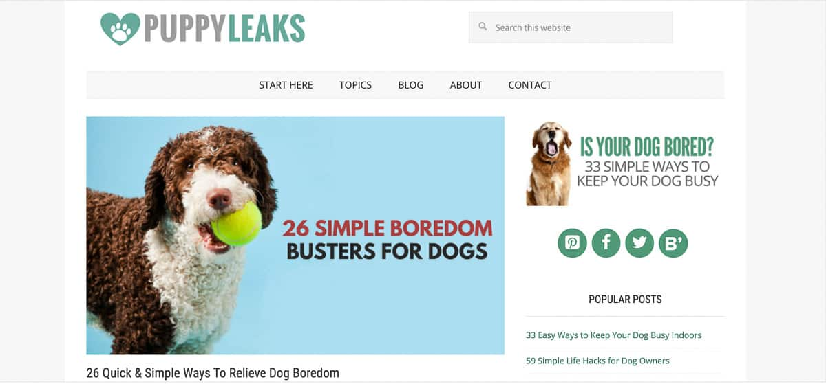 puppy leaks blog