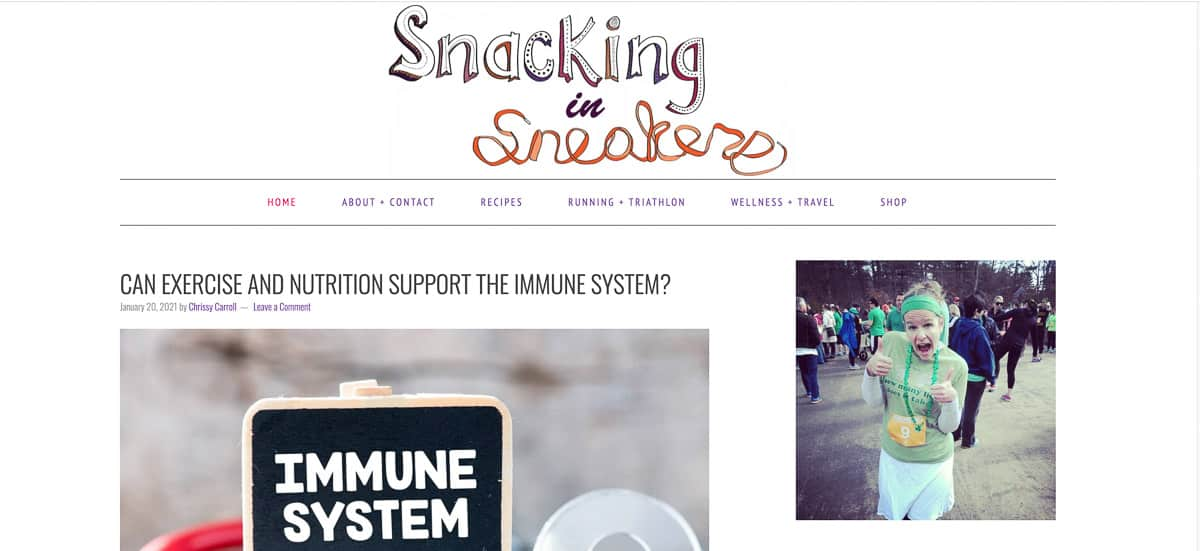snacking in sneakers blog