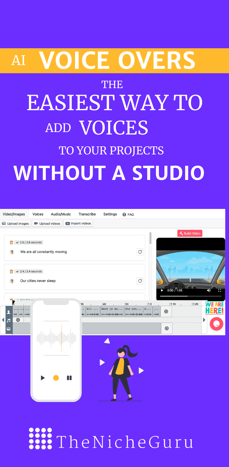 Learn how to add realistic human voices to your projects without a studio. All you need is this tool! #VoiceOvers #VoiceOversTips