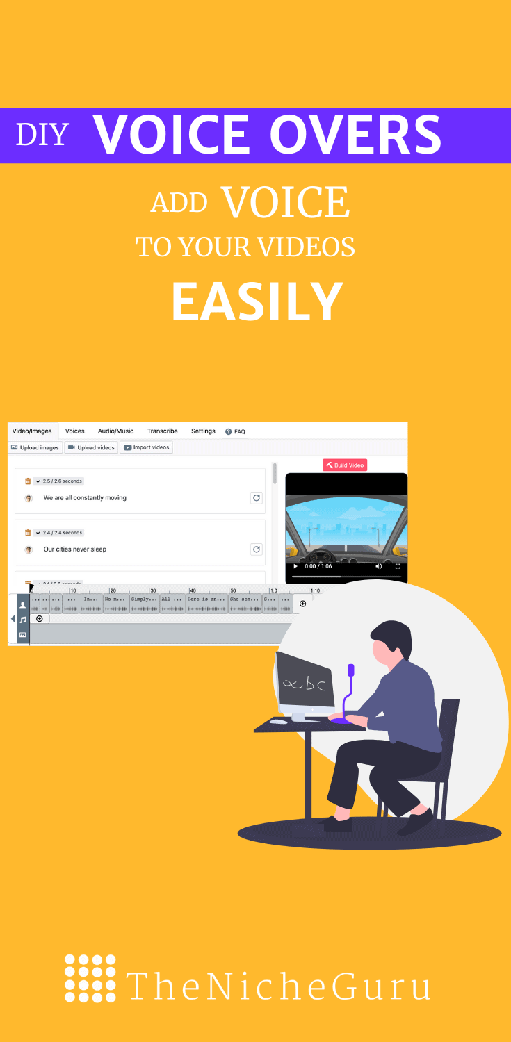 Create your own voice overs for your videos and audios with a simple DIY tool. #DIYVoiceOver #VoiceOvers