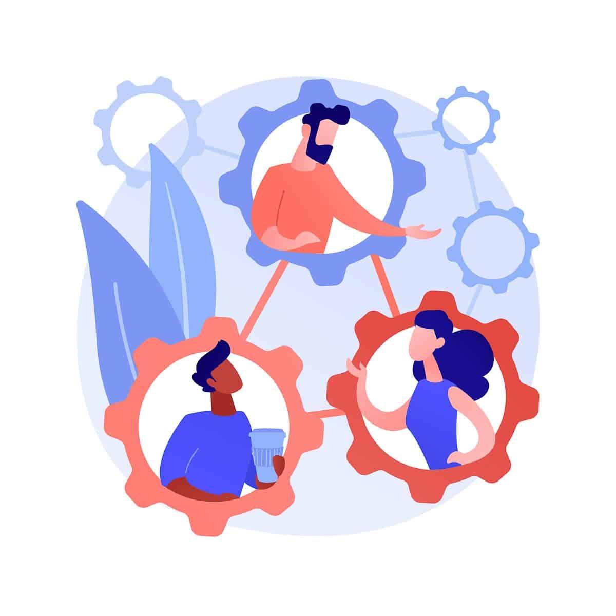 Social development abstract concept vector illustration.