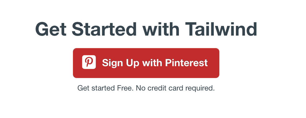 sign up with pinterest
