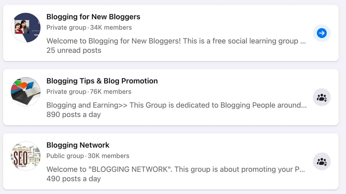 FaceBook groups are free traffic sources