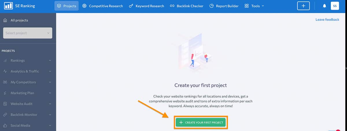 se ranking creating a project