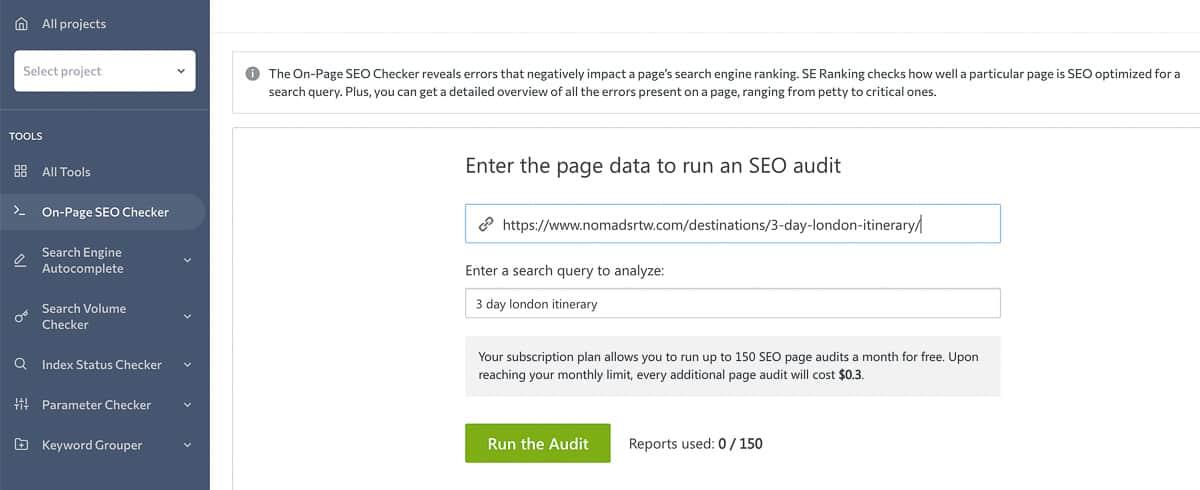 page audit