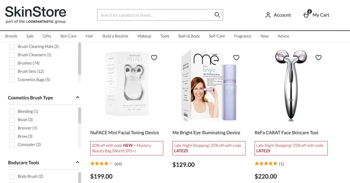 beauty devices website