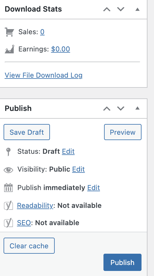 EDD publish