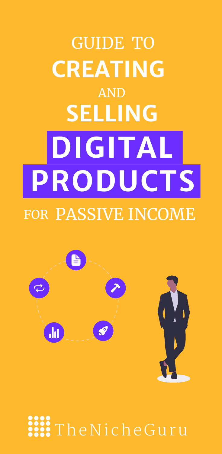 Practical guide to learn step by step how to create and sell digital products for passive income even if you don't have a website.  #DigitalProducts #DigitalMarketing #PassiveIncomeTips