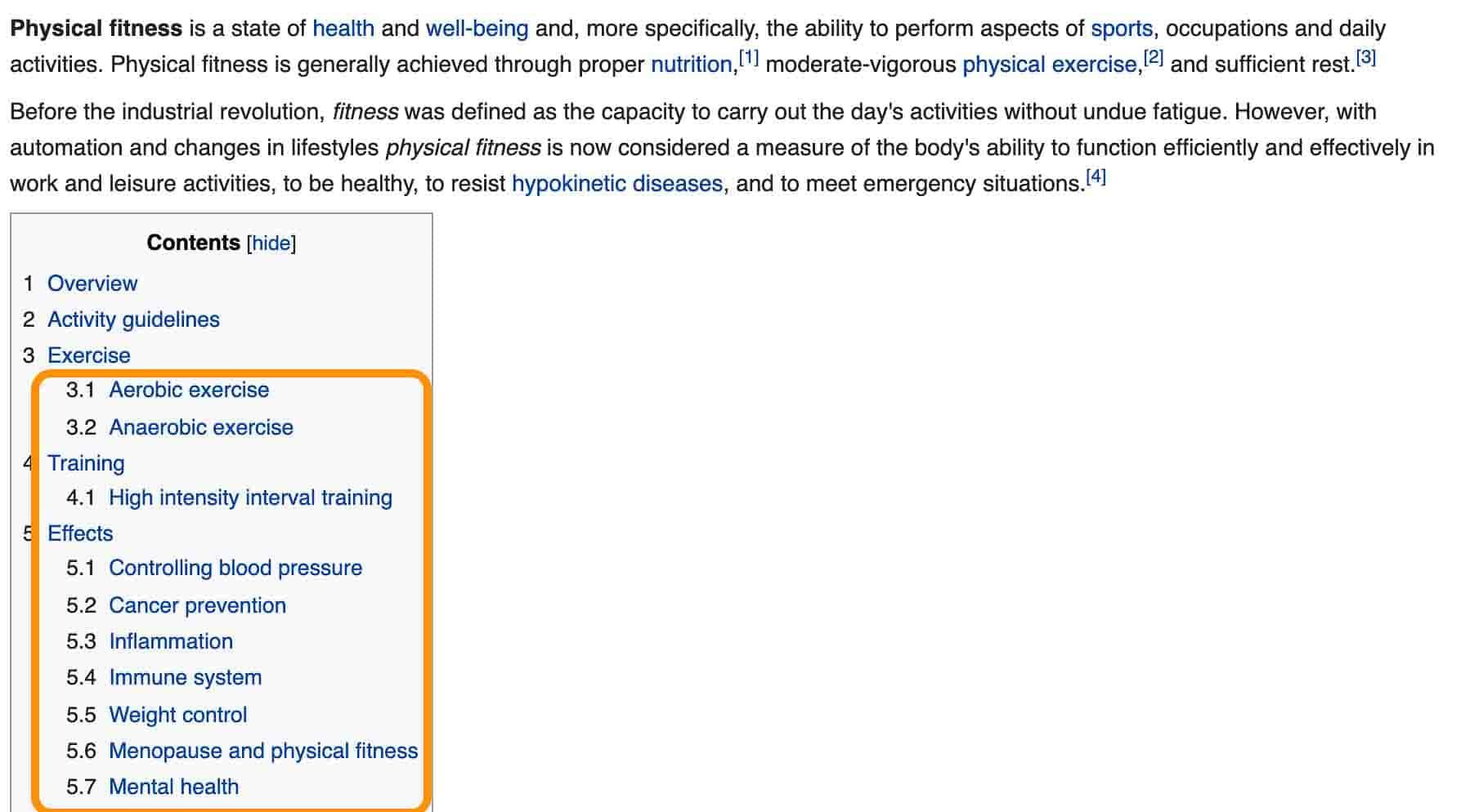 fitness keywords