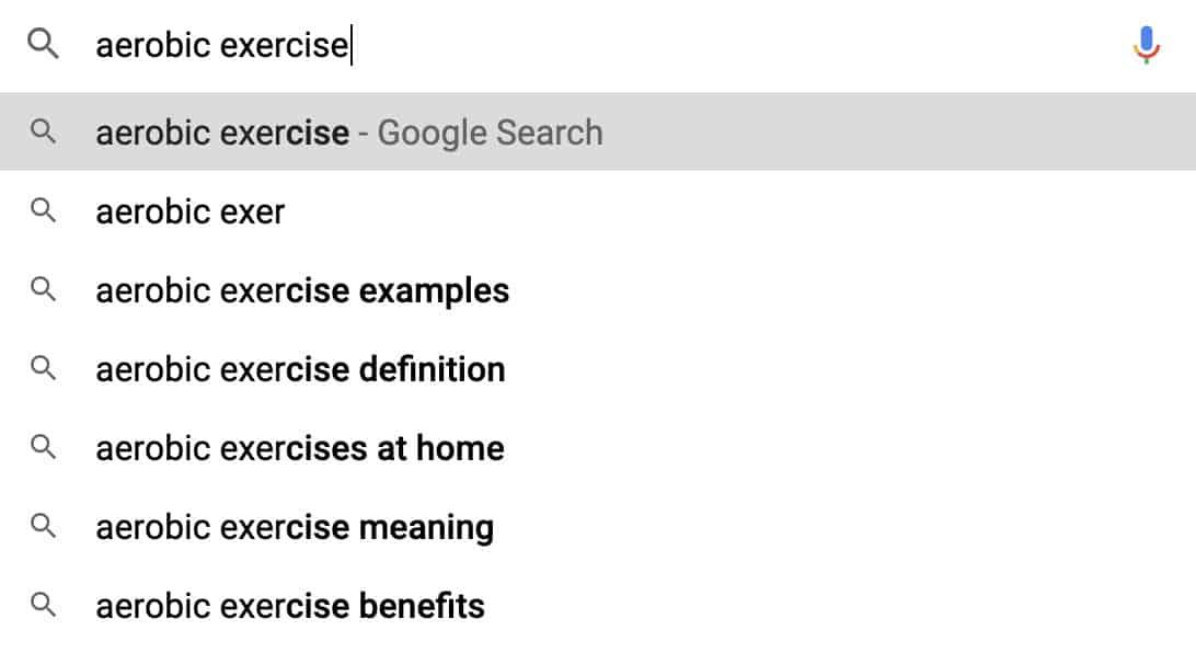 google suggest fitness 1