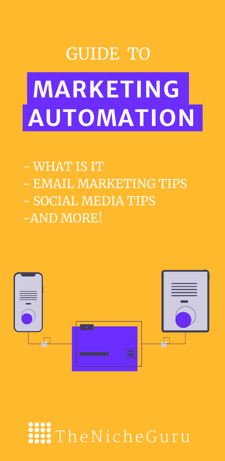 Complete guide to marketing automation including how to start with marketing automation in ecommerce, email marketing automation tips, and other strategies to successfully promote your goods. #MarketingAutomation #EcommerceTips #OnlineMarketing #AutomationEcommerce