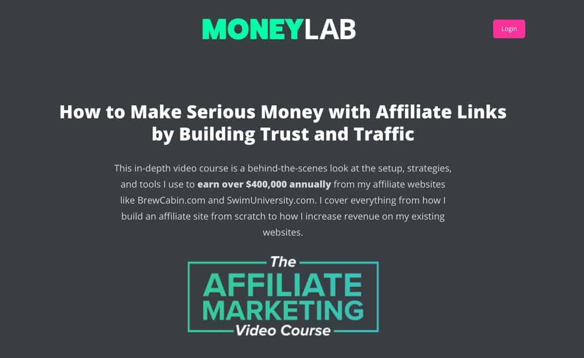 Affiliate marketing video course
