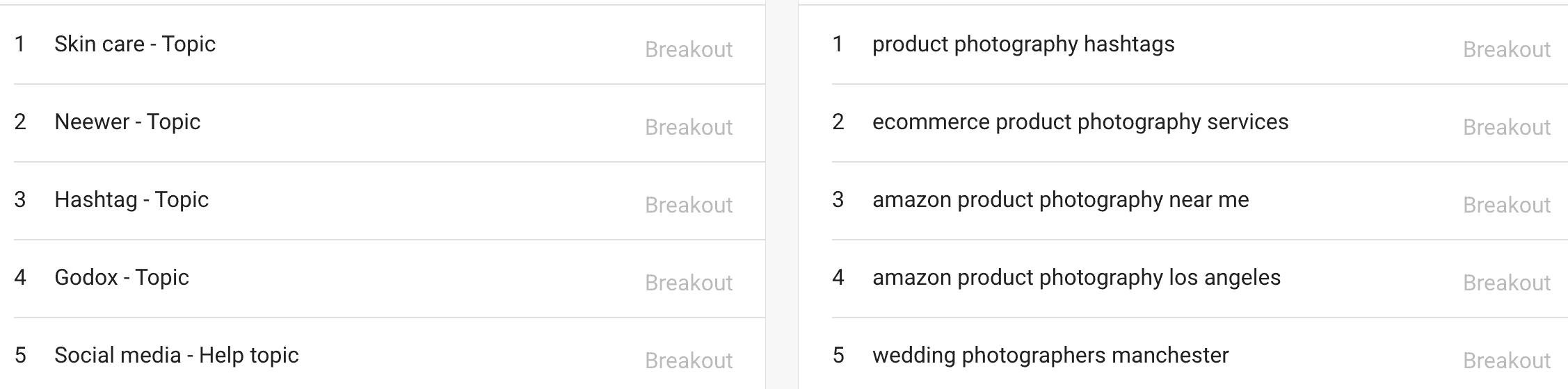niche trend ideas