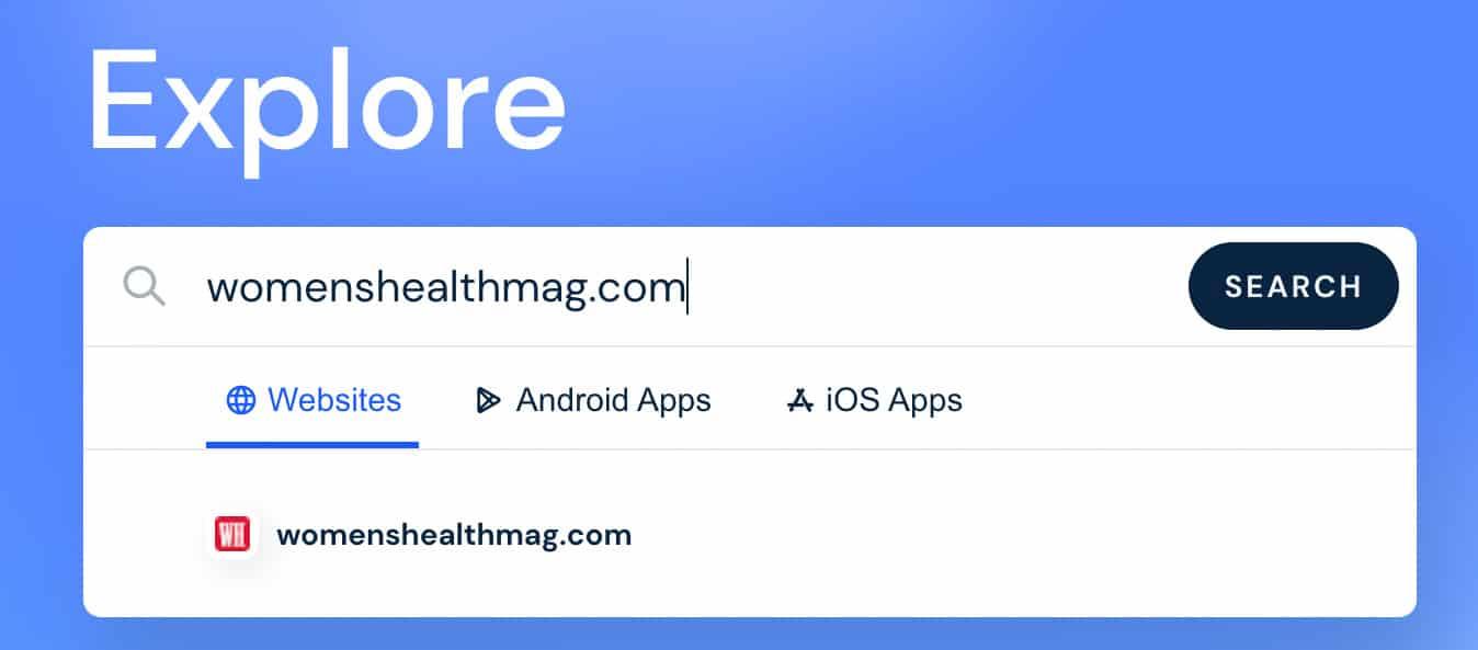 similar web homepage