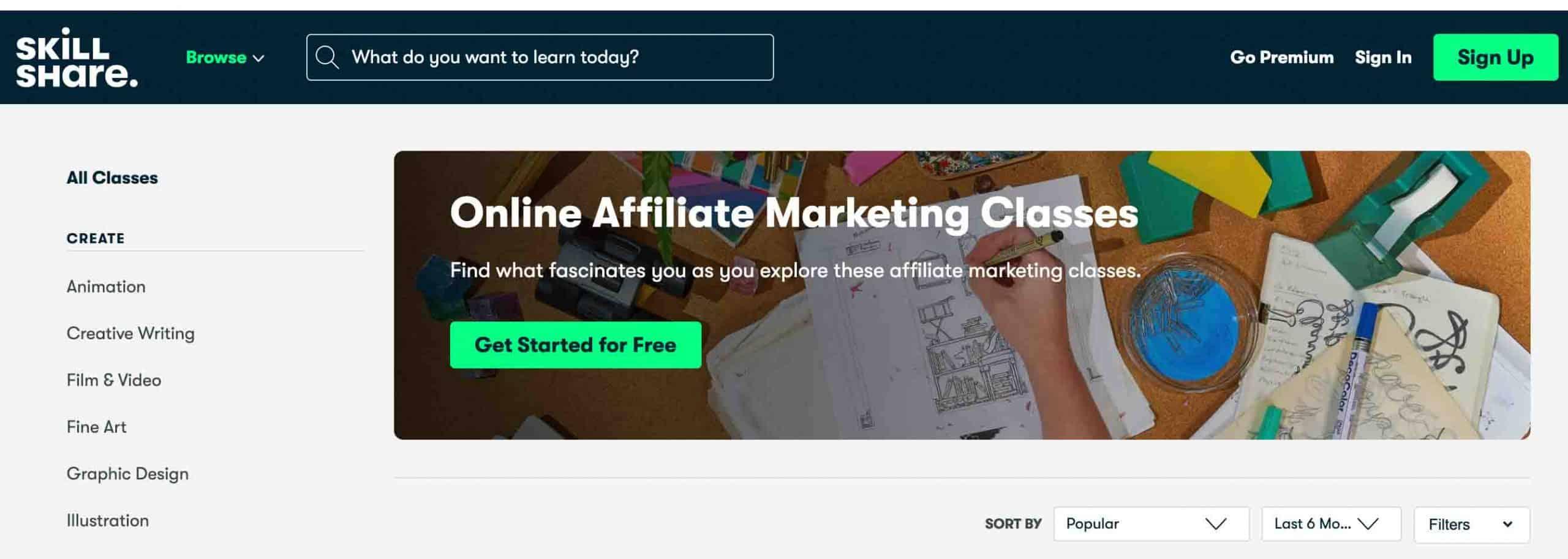 Skillshare – Free Affiliate Marketing Courses