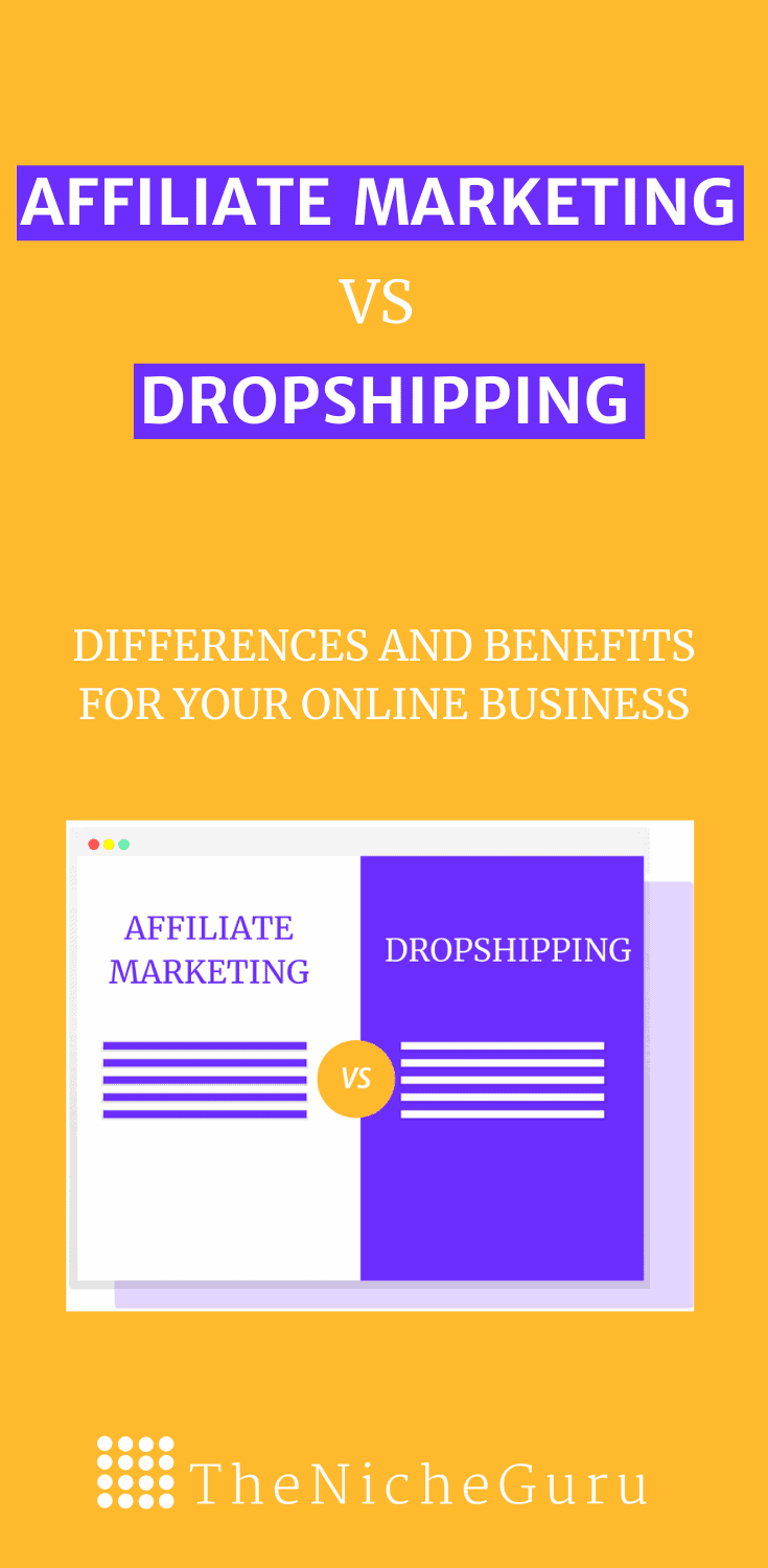 Affiliate marketing vs dropshipping: Differences, similarities, how to make money with each of them, what is more profitable, which is easier, and more! #Dropshipping #AffiliateMarketing #DigitalMarketingTips #MakeMoneyOnline