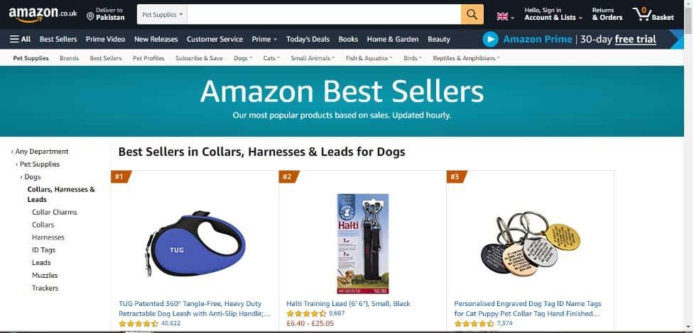 amazon best selling categories