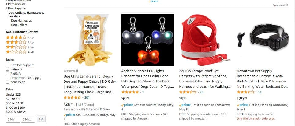 amazon products examples