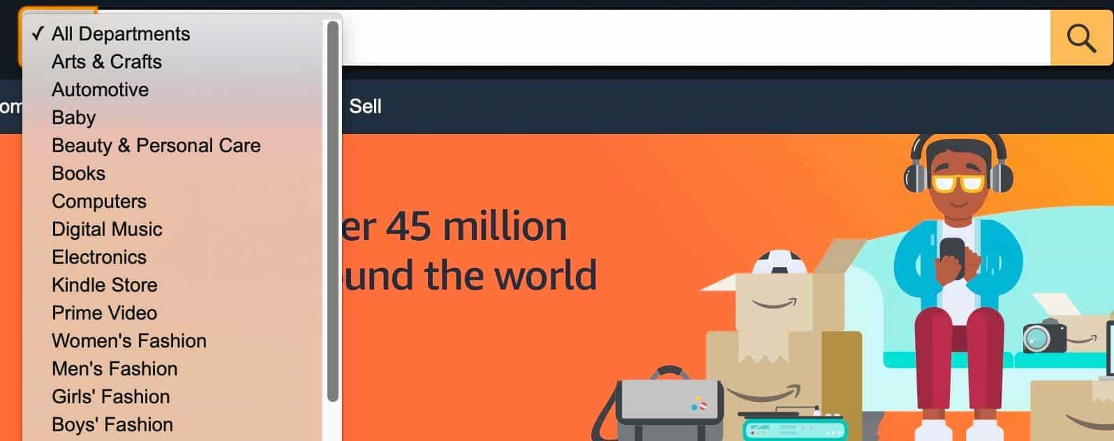 amazon search bar
