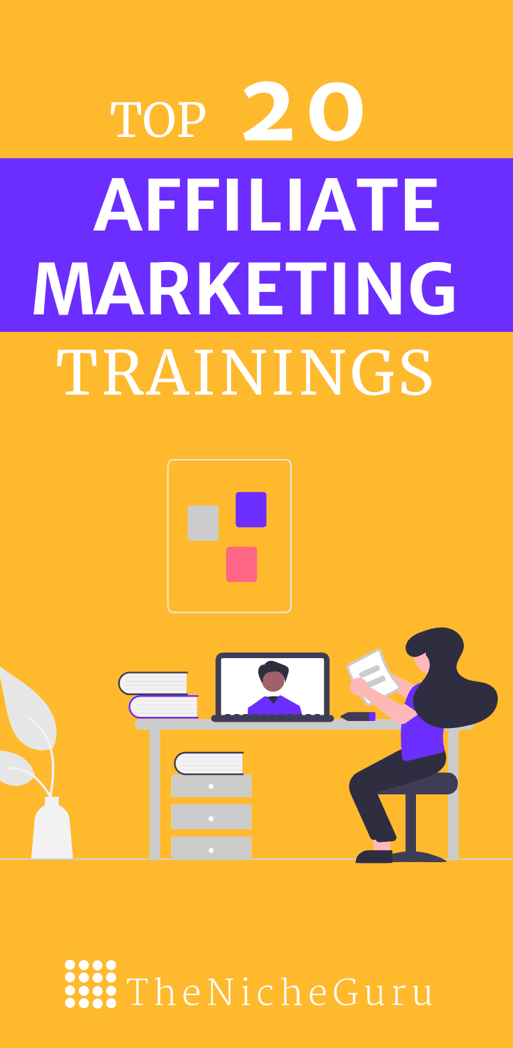 Want to learn how to make money online with affiliate marketing? Check these 20 affiliate marketing trainings with free training and prices in all ranges that will help you increase your business revenue. #AffiliateMarketingTips #AffiliateMarketingTraining #MakingMoneyOnline