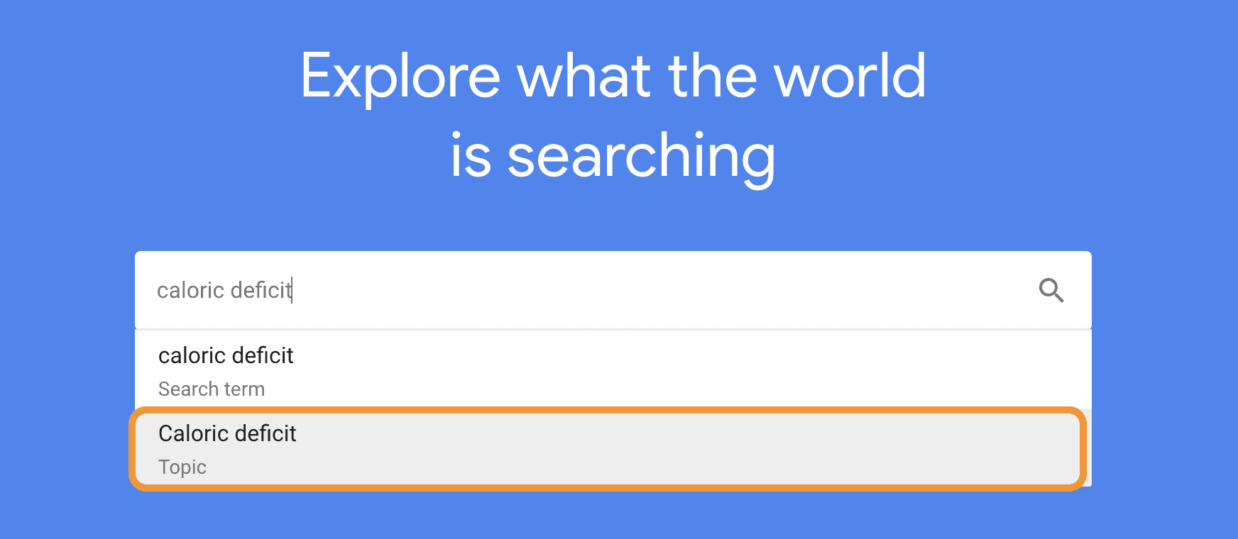google trend homepage