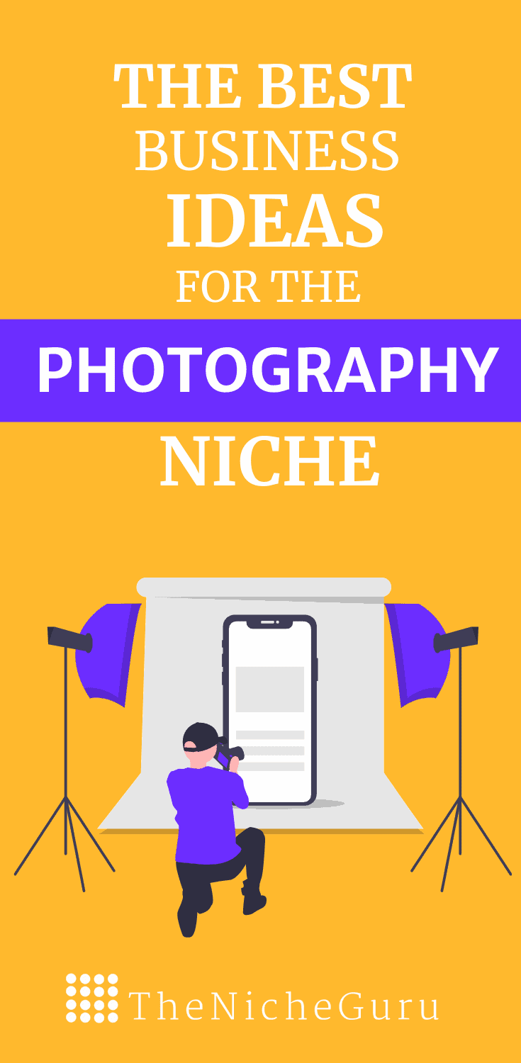 The best business ideas in the photography niche to make money online with less competition. Learn how to choose the best photography niche, niche market trends, how to monetize your site with this niche and more. #PhotographyIdeas #NicheIdeas #NicheReport