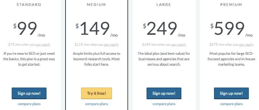 Moz pro pricing